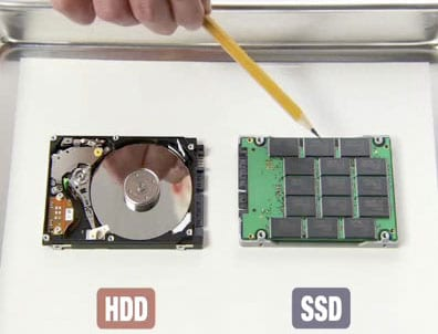 The difference between a hard drive and an SSD