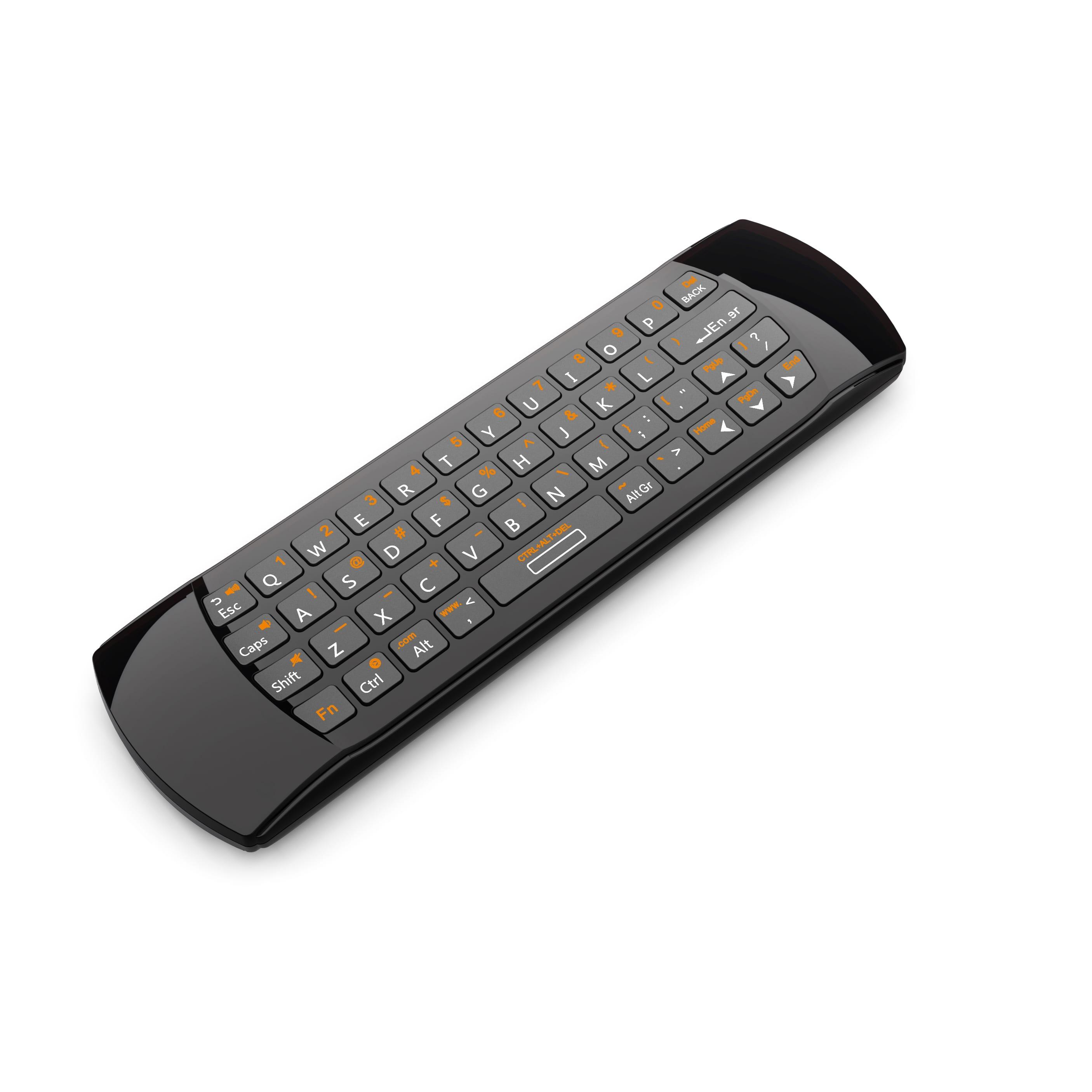 f798e038fa6 Rii Wireless QWERTY Air Mouse Dual-Sided IR Remote Keyboard Black
