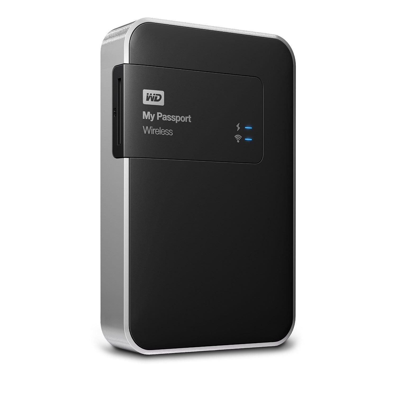 WD MyPassport Wireless 2TB USB3.0 Wifi SD Black