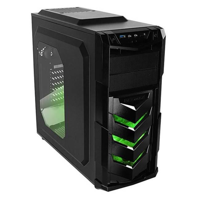 Raidmax Vortex404 Gaming Chassis Black and Green