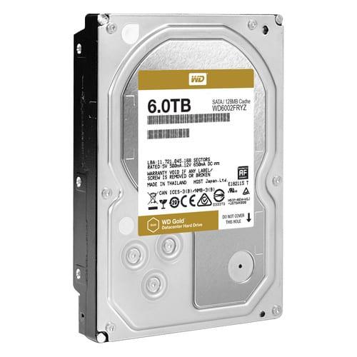 WD Gold 6TB 3.5 SATA 128MB