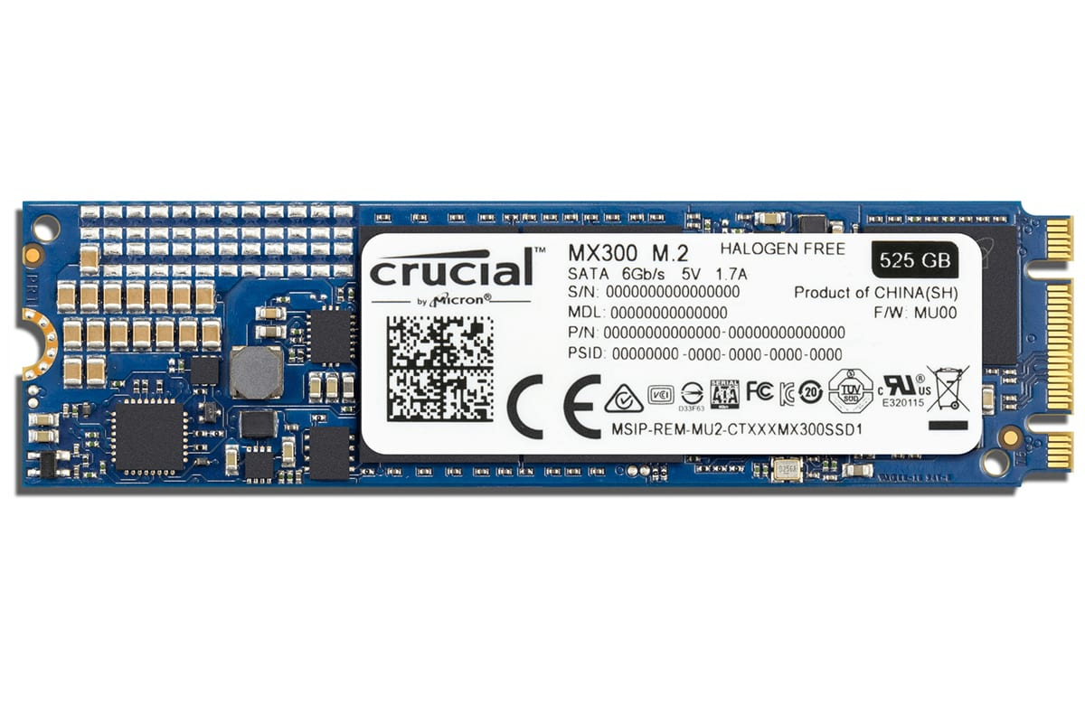 Crucial MX300 525GB M.2 2280DS SSD