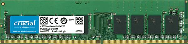 Crucial 8GB DDR4 2666MHz Dual Rank ECC Unbuffered Dimm
