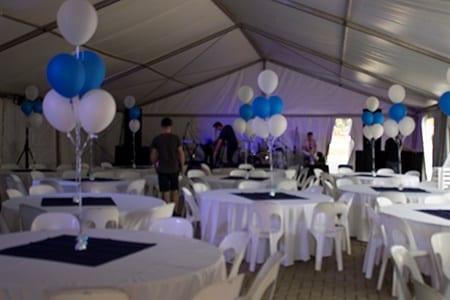 tent setup for JHB function