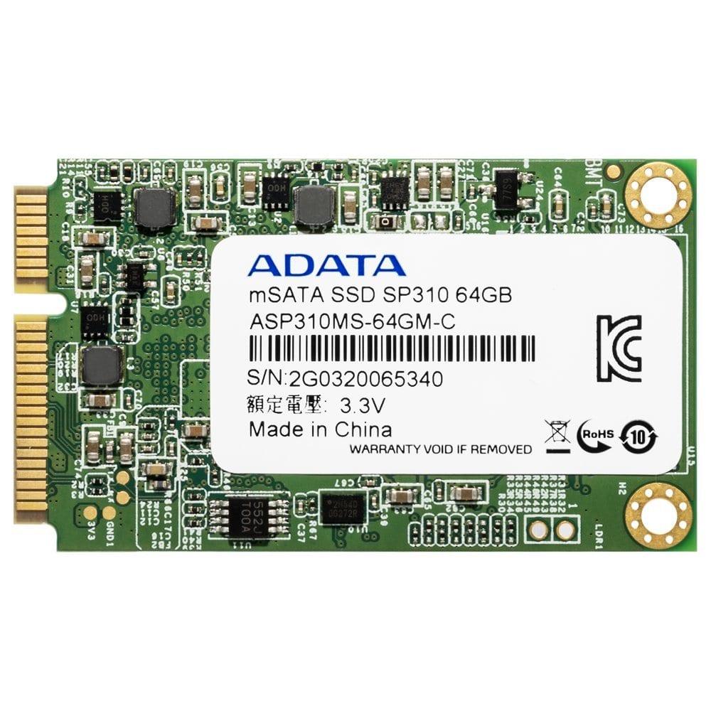Adata SP310 64GB MSATA SSD
