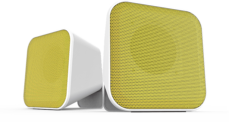 Speedlink SNAPPY Speakers - White and Yellow