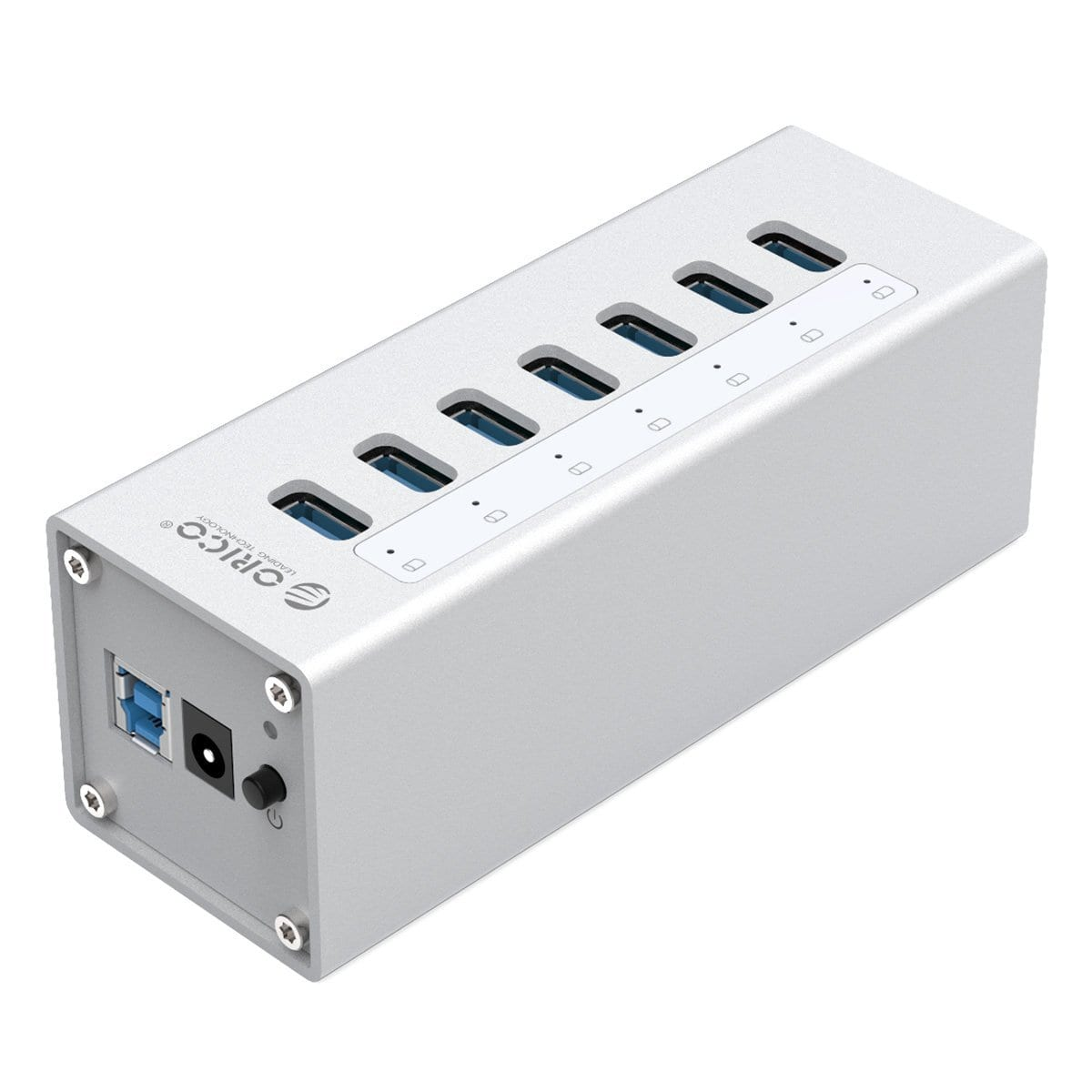 Orico 7 Port USB3.0 Hub Aluminium Silver