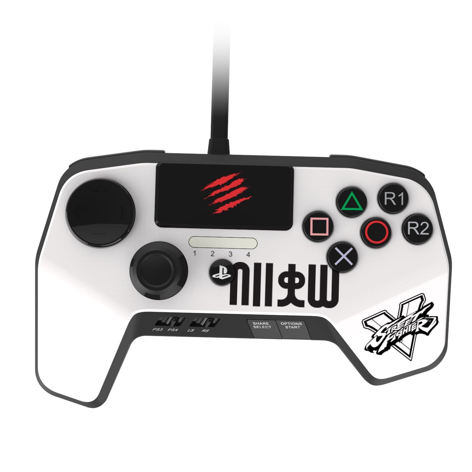 SparkFox Madcatz Controller White - PS3/PS4