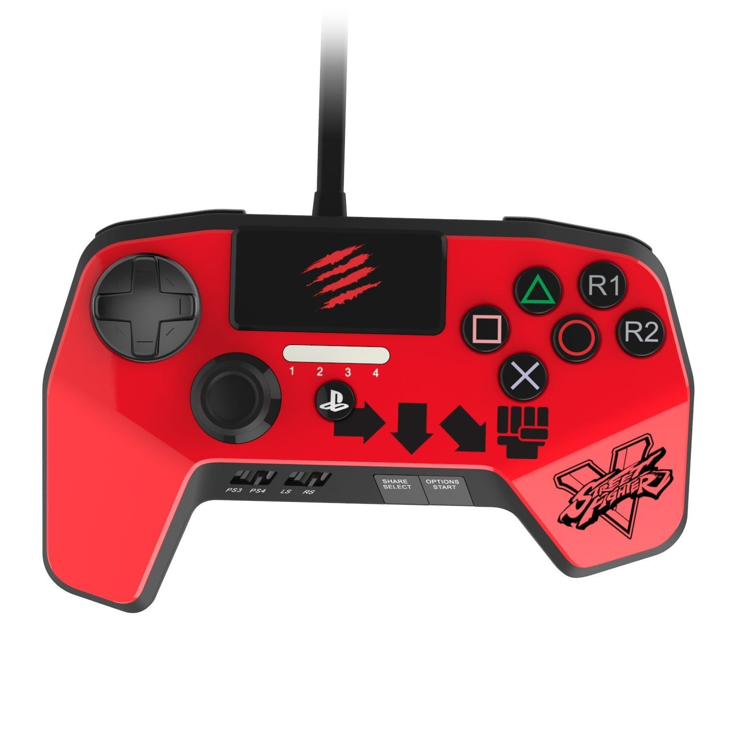 SparkFox Madcatz Controller Red - PS3/PS4