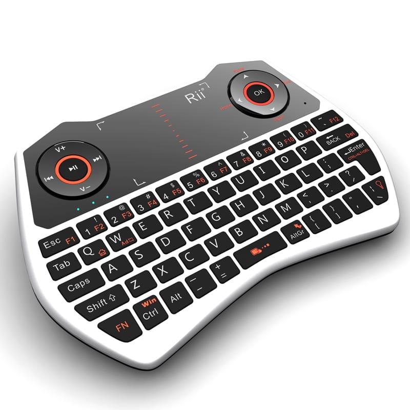 Rii Wireless QWERTY Backlit Game Touchpad Keyboard White