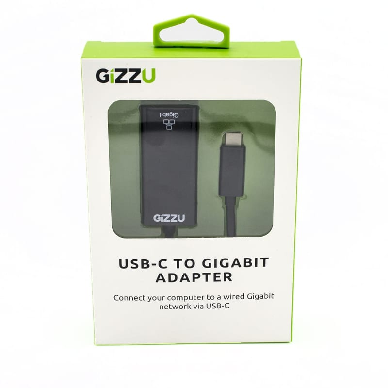 GIZZU USB-C to Gigabit Adapter - Black