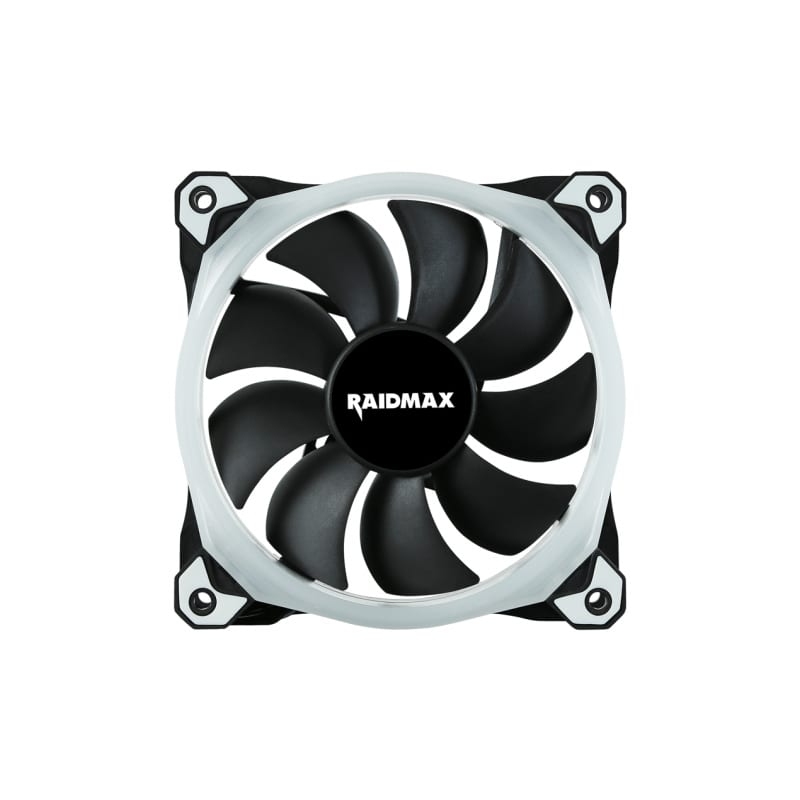 Raidmax 120mm 1200RPM 20-23aBA RGB Fan (Compatible with