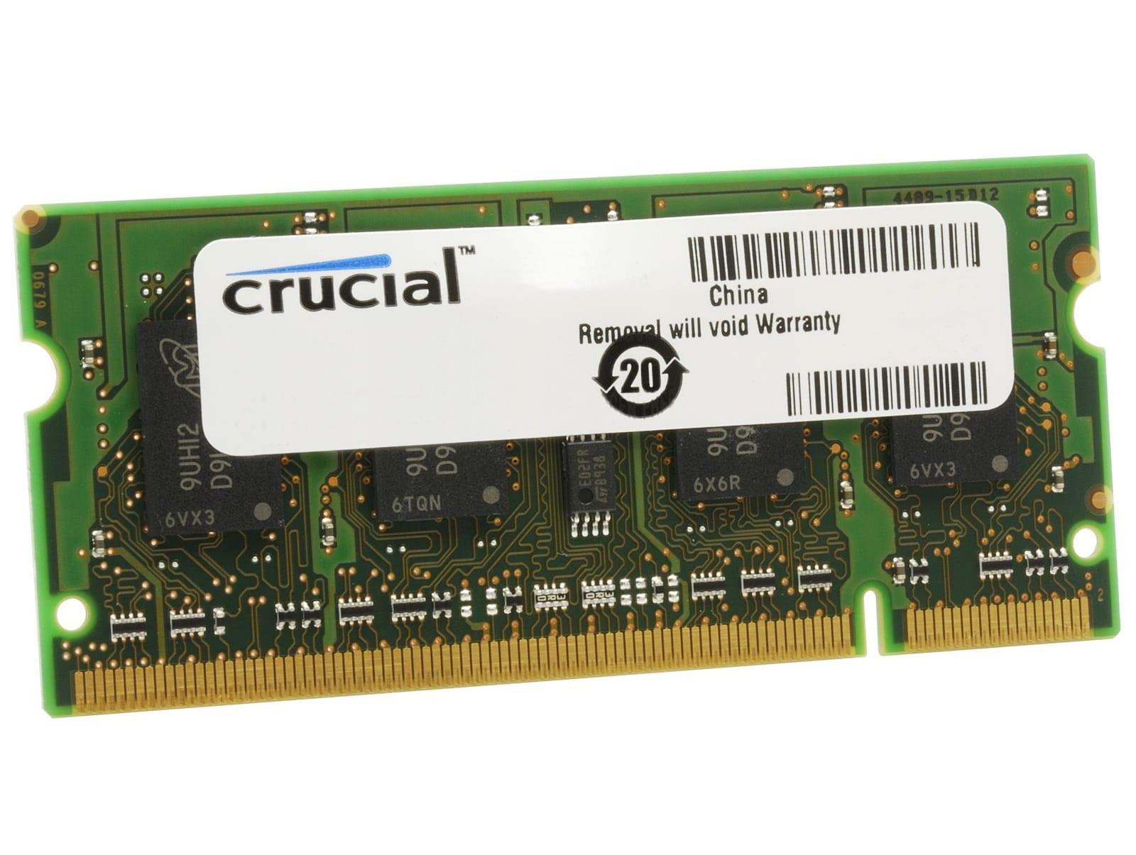 Crucial 2GB DDR3L 1600MHz SO-DIMM Single Rank