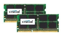 Crucial 4GB kit (2x2GB) 1333MHz MAC SO-Dimm Memory