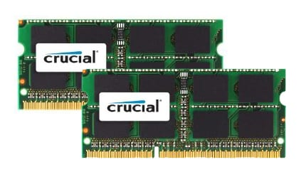 Crucial 8GB kit (2x4GB) 1333MHz MAC SO-Dimm Memory