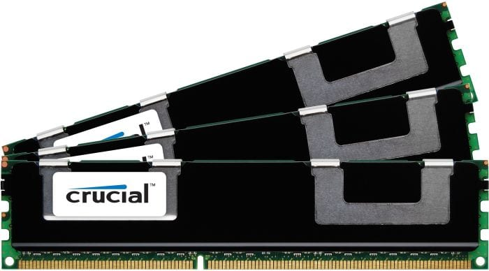 Crucial 24GB kit (3x8GB) 1600MHz DDR3L RDIMM Memory