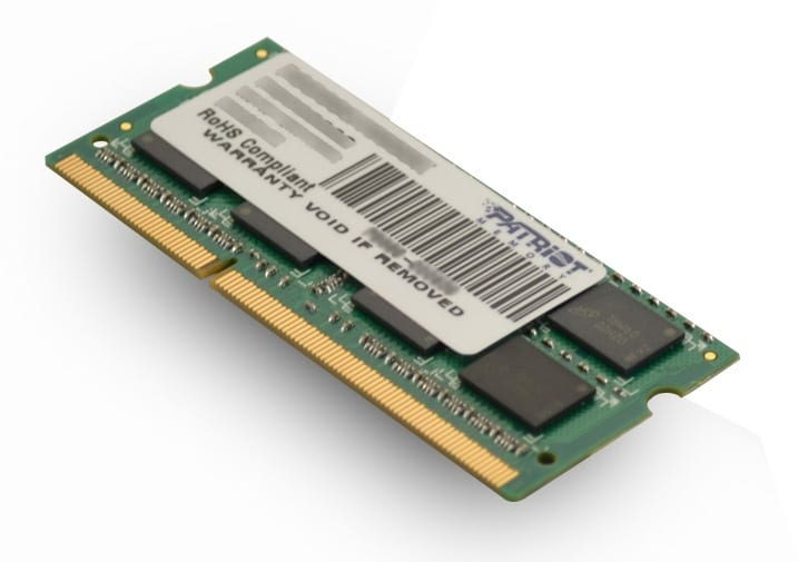 Patriot SL 4GB 1600MHz DDR3 SO-Dimm DS Memory